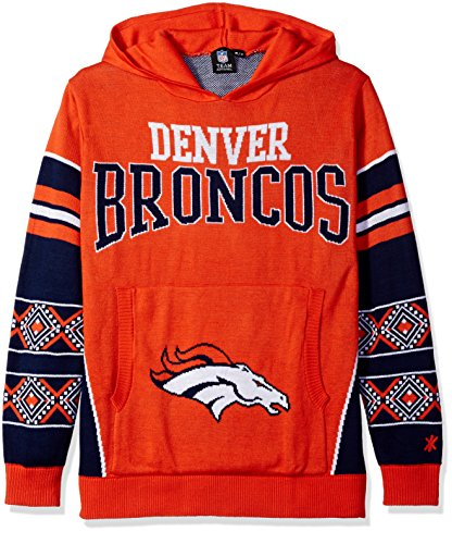 Denver Broncos Big Logo Hooded Sweater Double Extra Large
