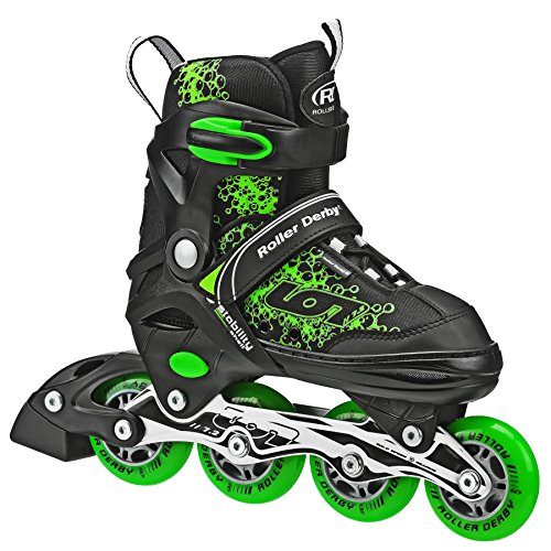 Roller Derby ION 7.2 Inline Skates with Aluminum frames and Adjustable Sizing for growing feet, Small (11-1)