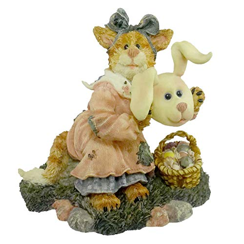Boyds Bears Resin Kandace Purrshop Hidden Easter Purrstone Basket - Resin 3.75 IN