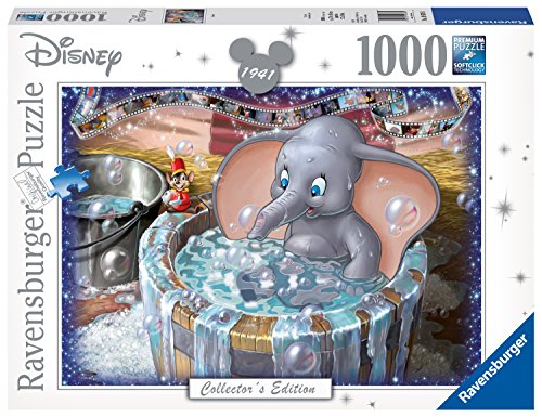 Ravensburger 19676 Disney Dumbo Collector's Edition 1000 Piece Puzzle for Adults, Every Piece is Unique, Softclick Technology Means Pieces Fit Together Perfectly,White