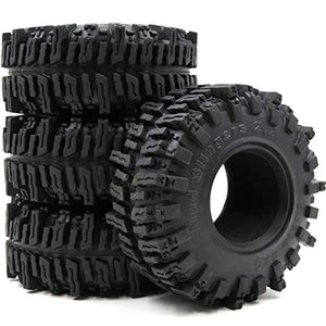 "hobbysoul 4pcs RC 2.2"" Mud slingers Tires Sticky Crawler Tires Height 124mm W/ Foam"