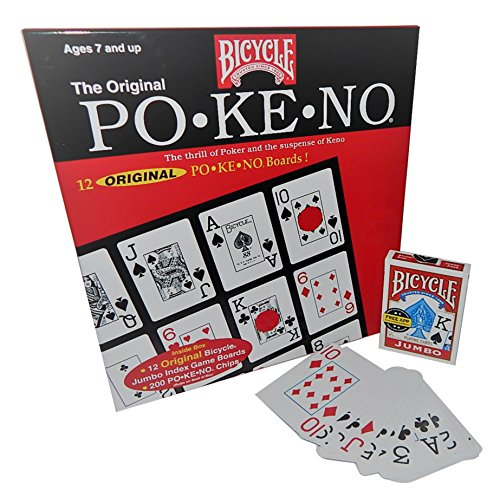 Pokeno Game Set with Jumbo Deck of Playing Cards