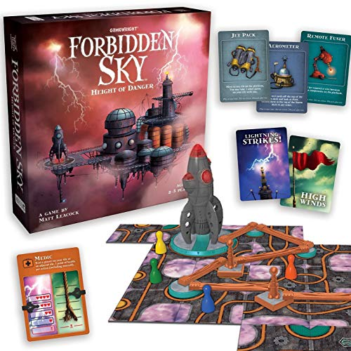 Gamewright Forbidden Sky – The Cooperative Strategy Survival Rocket Building Board Game, 5