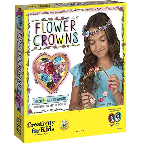 Creativity for Kids Flower Crowns Craft Kit - Create 4 Hair Accessories