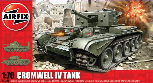 Airfix A02338 Cromwell Cruiser Model Building Kit, 1:76 Scale