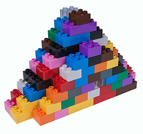 Strictly Briks - Big Briks Set - 108 Pieces - 12 Rainbow Colors - Compatible with All Major Brands - Large Building Blocks for Ages 3 and Up
