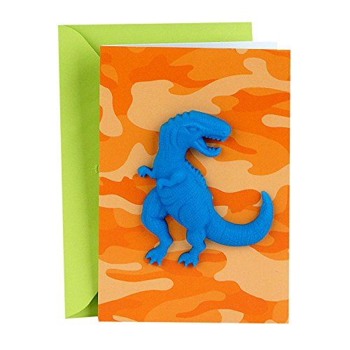 Hallmark Signature Birthday Card for Boy (T Rex)