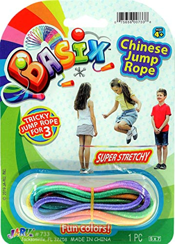2CHILL Chinese Jump Rope or Kids (1 Pack) by JA-RU Jumping Game I | Girls Party Favors Skipping Rope. 733-1A