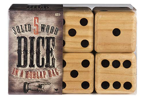 5 Giant Wood Dice Giant Game