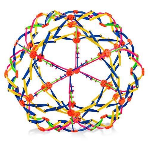 4E's Novelty Expandable Ball Fidget Sphere Toy (Colors May Vary) Expanding Stress Relief Breathing Ball Toys for Kids & Adults - for Anxiety, Yoga, Deep Breathing, ADHD - Expands from 5.6