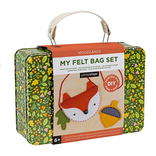 Petit Collage DIY Arts and Craft Kit, Felt Bag and Coin-Purse