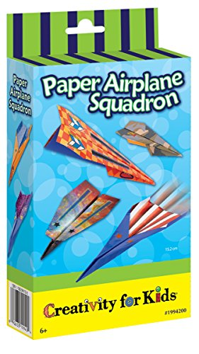 Creativity for Kids Paper Airplane Squadron - Create and Customize 20 Paper Planes
