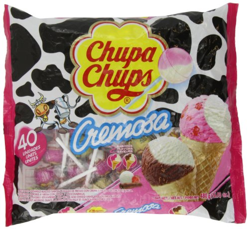 Chupa Chups Lollipops - Ice-cream Flavor (40ct. Bag) Fat Free! (16.93oz.)