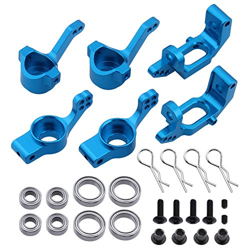 Hobbypark 102210 102010 102211 102011 102212 102012 Aluminum Steering Knuckle Kit Hub Carrier Upgrade Parts for RC Redcat Volcano EPX HSP