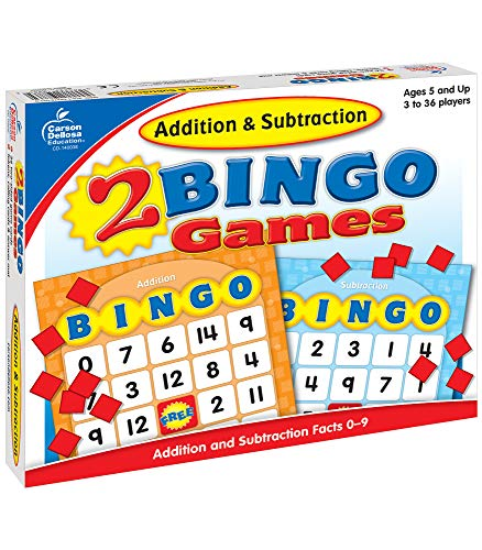 Addition and Subtraction Bingo Board Games Carson-Dellosa (140038) Ages 7 and Up