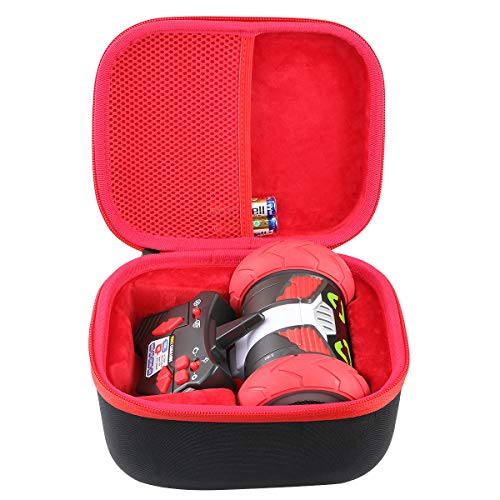 co2CREA Hard Travel Case for Really RAD Robots Turbo Bot Electronic Remote Control Robot (Black Case + Inside Red)