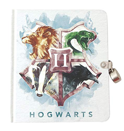 Playhouse Harry Potter Houses of Hogwarts Lock & Key Lined Page Diary for Kids