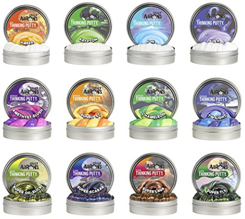 Crazy Aaron's Putty .47 oz Mini Tin Assortment - 12 Pack