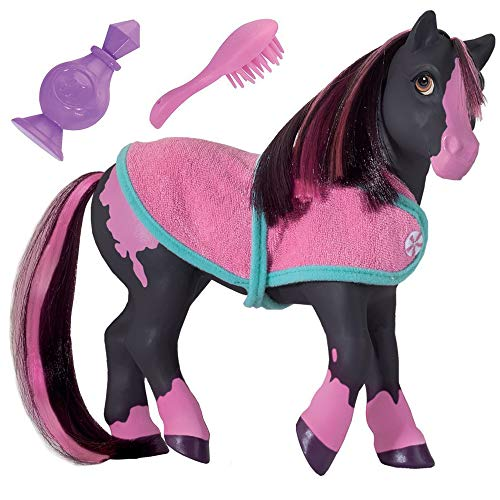 Breyer Horses Color Changing Bath Toy | Jasmine the Horse | Black / Pink with Surprise White Color | 7