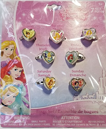 Disney Princess 7 Days of the Week Ring Set by H.E.R. Accessories