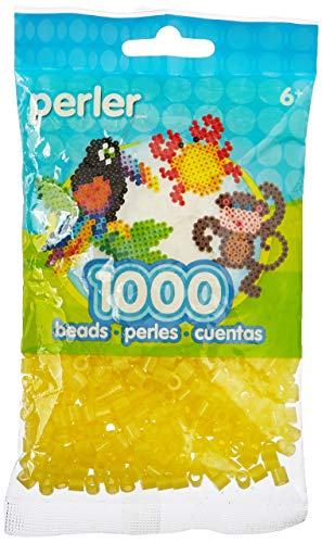 Perler Beads Fuse Beads for Crafts, 1000pcs, Yellow Glitter