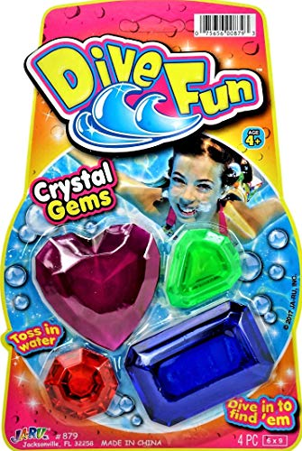JA-RU Diving Gems Dive Crystals Diving Toys Fun Swimming Pool Dive Toys Gem Diving Training Toy Sinker for Kids | Plus 1 Collectable Bouncy Ball I Item #879-1p