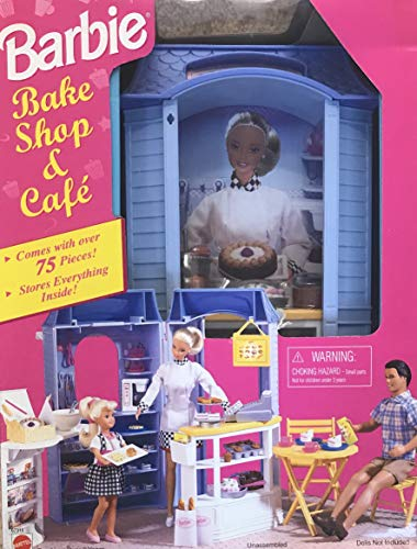 Barbie Bake Shop & Cafe Playset - More Than 75 Play Pieces (1998 Arcotoys, Mattel)