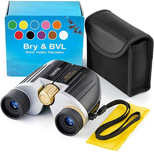 Kids Binoculars for Bird Watching – Spy Gear for Kids – Compact, Shockproof – 8X22 Binoculars for Kids, Waterproof – Best Toys for Boys, Adults – Holiday Toy List 2020 with High Resolution (Black)