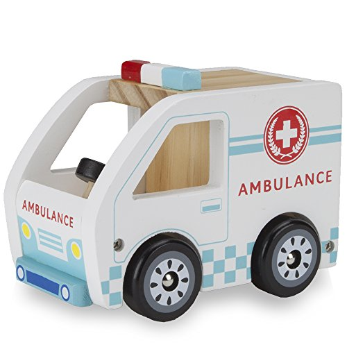 Wooden Wheels Natural Beech Wood Ambulance by Imagination Generation