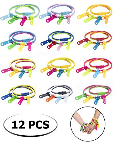 UpBrands Fidget Toys Zipper Bracelets Double Tour, Party Favors for Kids, Quiet Classroom Prizes, School Classroom Rewards, Goodie Bags, Easter Egg and Pinata Fillers, Students Incentives