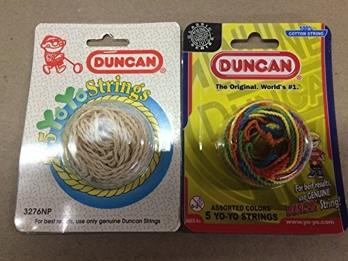 Duncan Yo-Yo String 2 Pack White & Multicolored