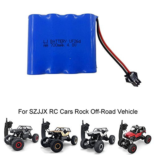 SZJJX Rechargeable Battery Pack 4.8V 700mAh for SZJJX RC Cars Off-Road Rock Vehicle Crawler Truck Metal Shell