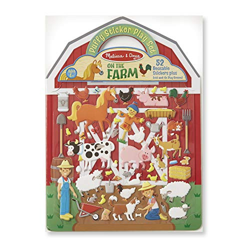Melissa & Doug Puffy Sticker - Farm