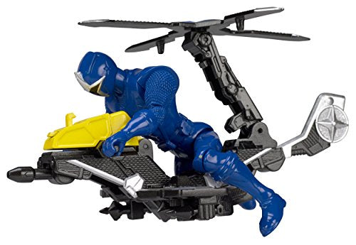Power Rangers Ninja Steel Power Rangers Mega Morph Copter with 5-Inch Blue Ranger Figure