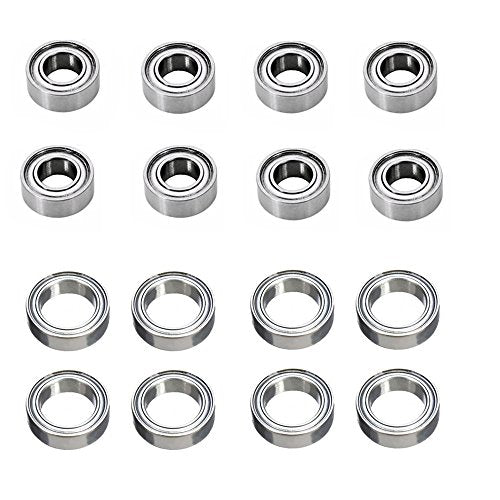 Metal Upgrade Parts Ball Bearing 8x4x3mm (8p) 12x8x3.5mm (8p) repalcement for Wltoys 1/18th RC car