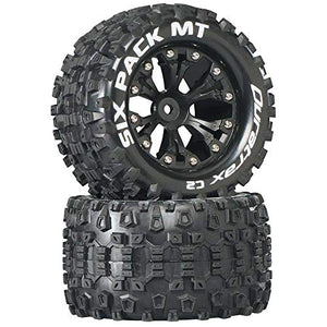 "Duratrax Six-Pack MT 2.8"" 2WD Mounted Rear C2 Tires, Black (2), DTXC3520"