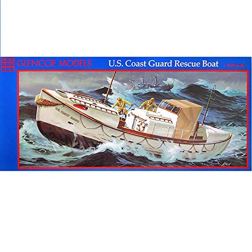 Glencoe Models 1:48 Scale U.S. Coast Guard Rescue Boat Plastic Model Kit (1989