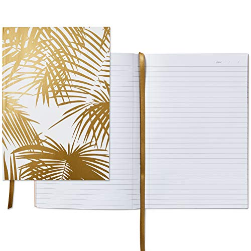 Hallmark Signature Gold Softcover Journal (Gold Palm Print)