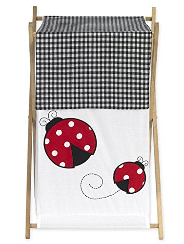 Baby and Kids Clothes Laundry Hamper for Sweet Jojo Designs for Ladybug Polka Dot Bedding Set