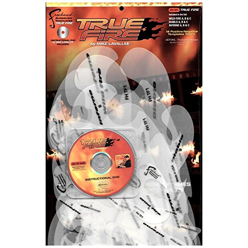Iwata-Medea Artool Freehand Airbrush Templates, True Fire Template Set