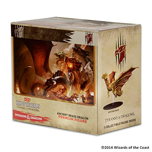 WizKids Dungeons & Dragons Icons of The Realms Tyranny of Dragons Brass Dragon Premium Figure