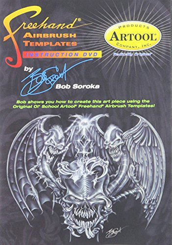 Artool Freehand Airbrush Templates, Template Dvd By Bob Soroka