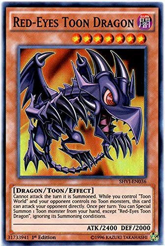 YU-GI-OH! - Red-Eyes Toon Dragon (SHVI-EN036) - Shining Victories - 1st Edition - Super Rare