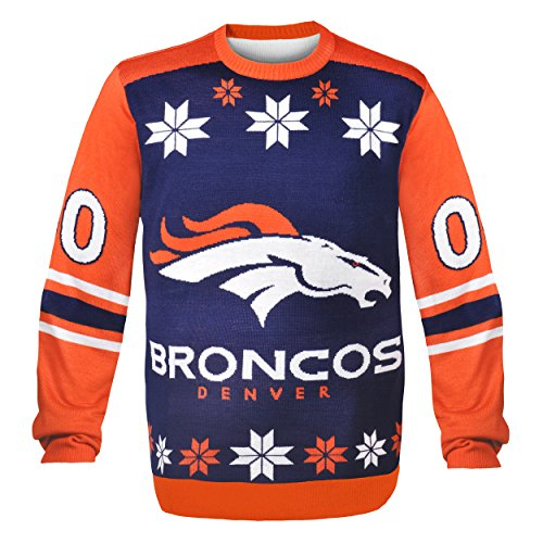 NFL Denver Broncos JERSEY Ugly Sweater, Medium