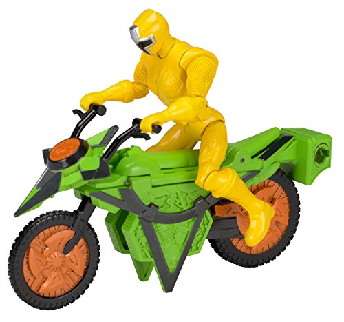 Power Rangers Ninja Steel Power Rangers Mega Morph Cycle with 5-Inch Yellow Ranger Figure
