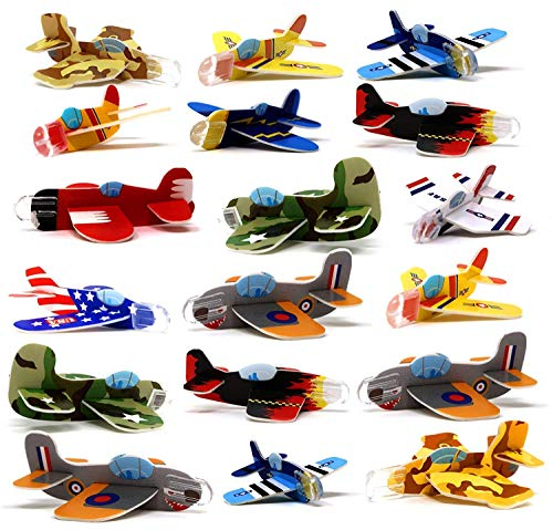 4E's Novelty Mega Assortment of 72 Mini Flying Glider Planes, Great Party Favors Toys for Kids, Holiday & Birthday Parties Supplies Goody Bag Filler