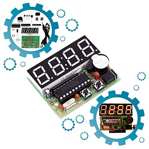 IS Icstation 4-bit Digital Clock DIY Soldering Practice Kit, Great School Science Project, Practice Soldering Skills