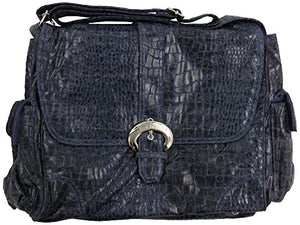 Kalencom Diaper Bag, Crocodile Navy