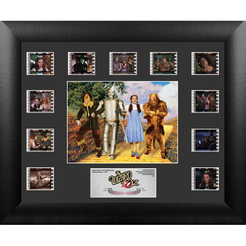 Trend Setters Wizard of Oz 75th Anniversary Mini Montage FilmCell Presentation 2 Framed Memorabilia