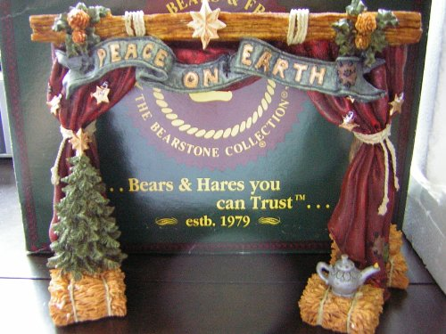 Boyds Bears & Friends Nativity Series #4 THE STAGE From The Bearstone Collection